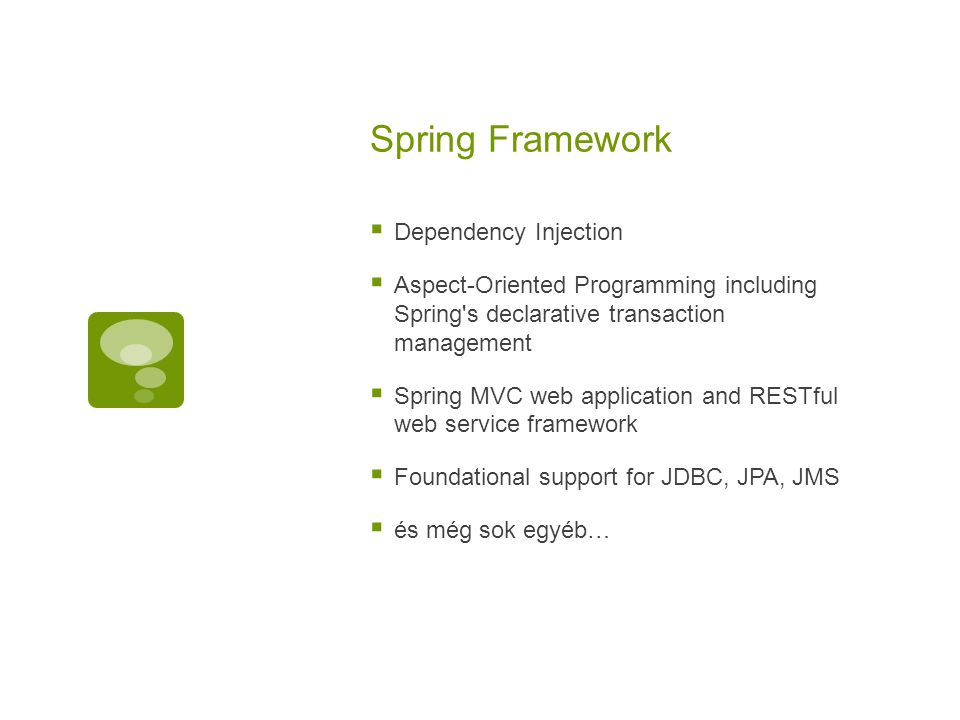 Spring Framework Dependency Injection