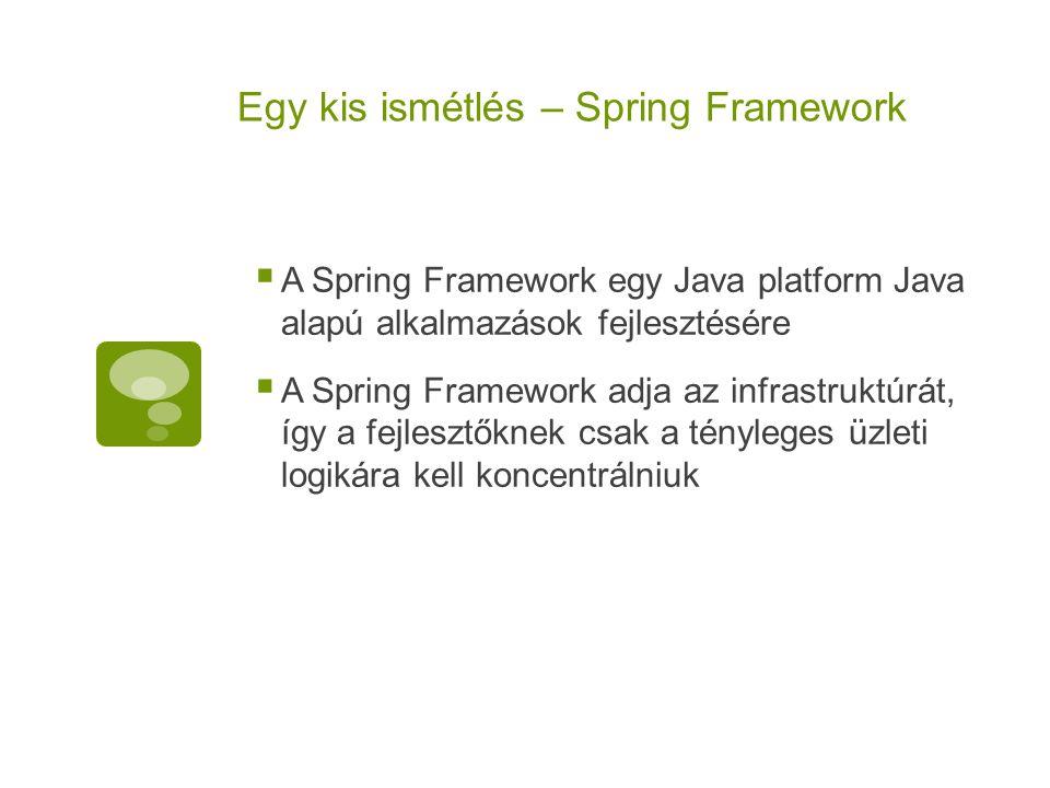 Egy kis ismétlés – Spring Framework
