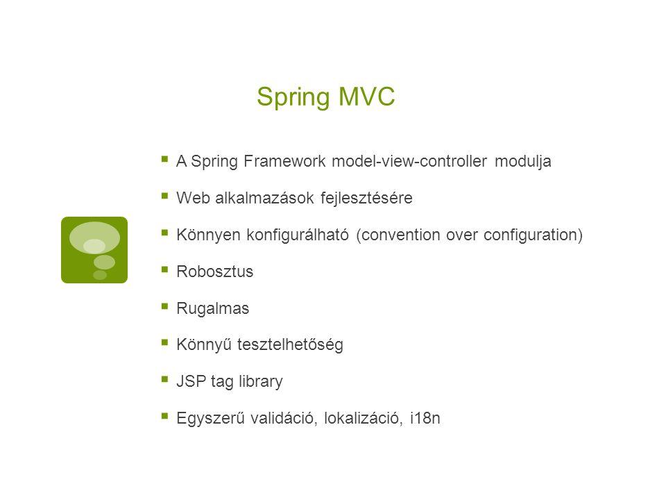 Spring MVC A Spring Framework model-view-controller modulja