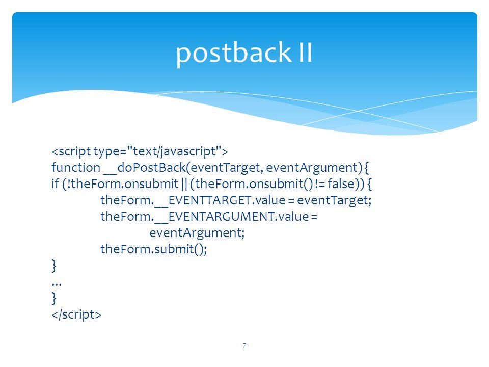 postback II
