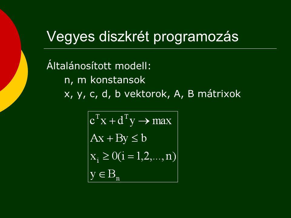 Vegyes diszkrét programozás