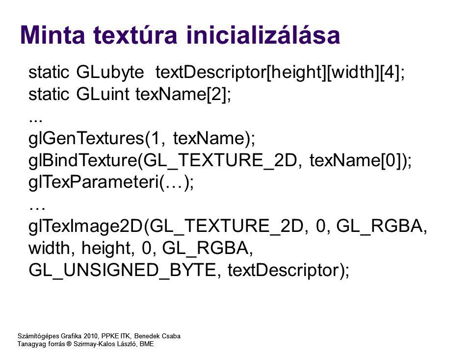 Minta textúra inicializálása