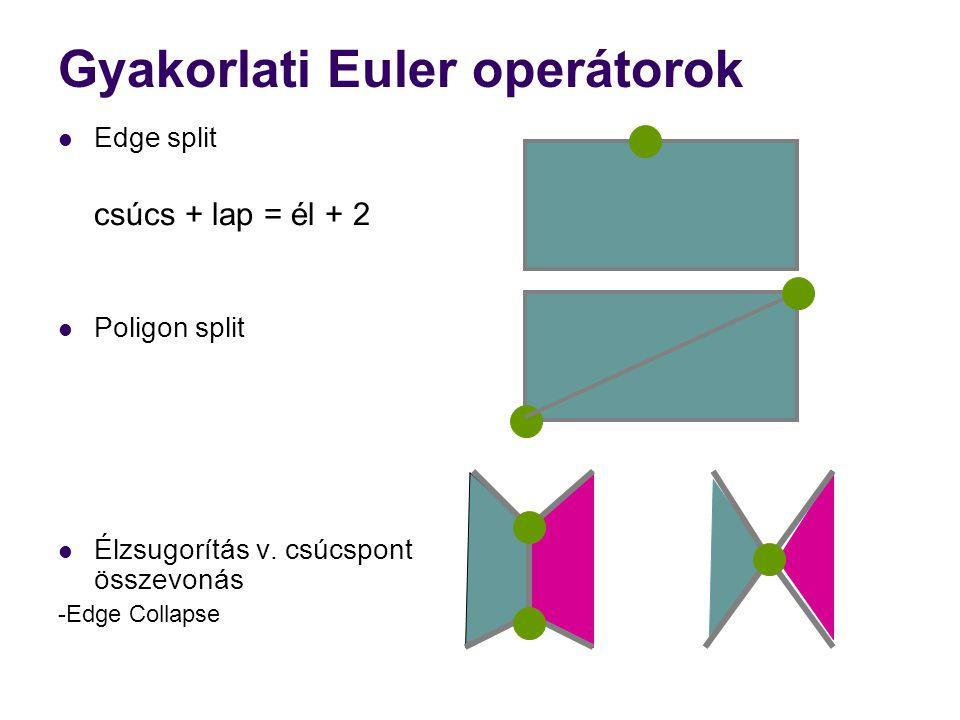 Gyakorlati Euler operátorok