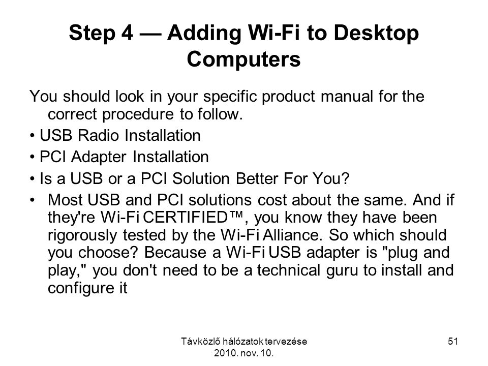 Step 4 — Adding Wi-Fi to Desktop Computers