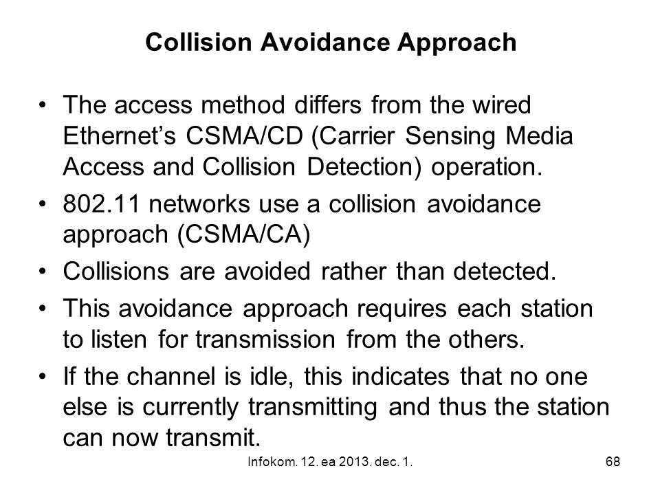 Collision Avoidance Approach