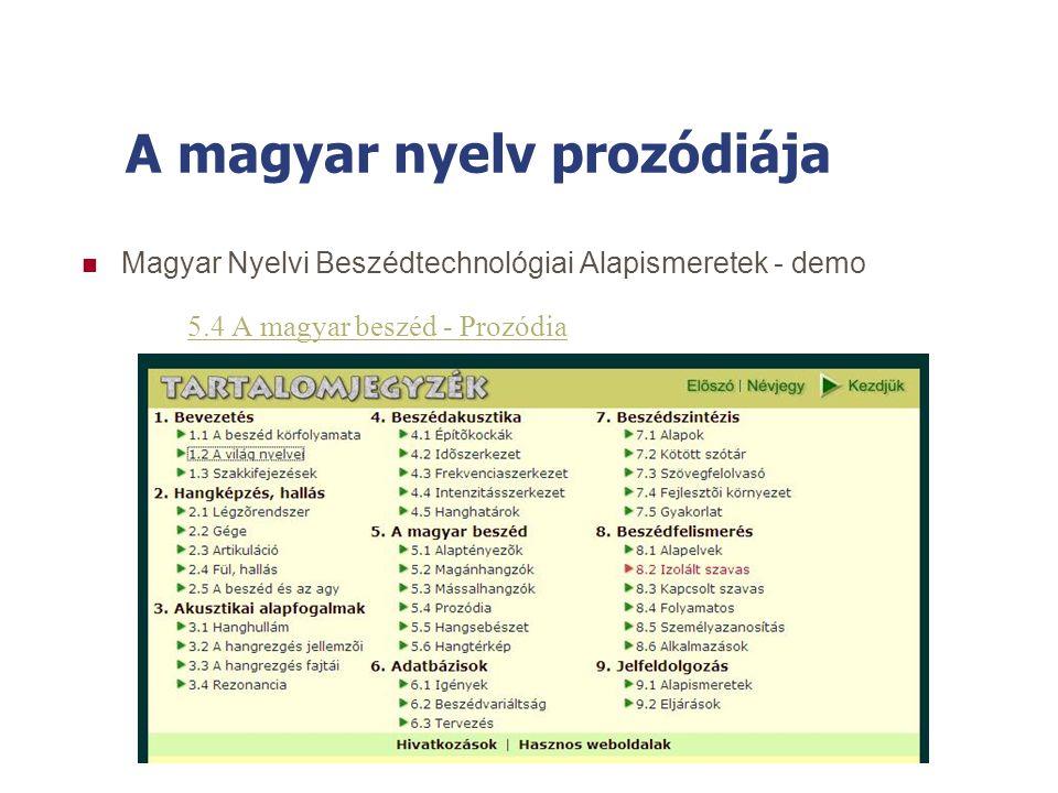 A magyar nyelv prozódiája