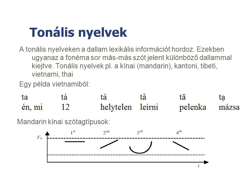 Tonális nyelvek