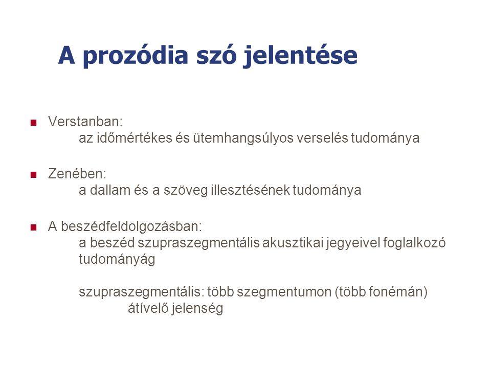 A prozódia szó jelentése