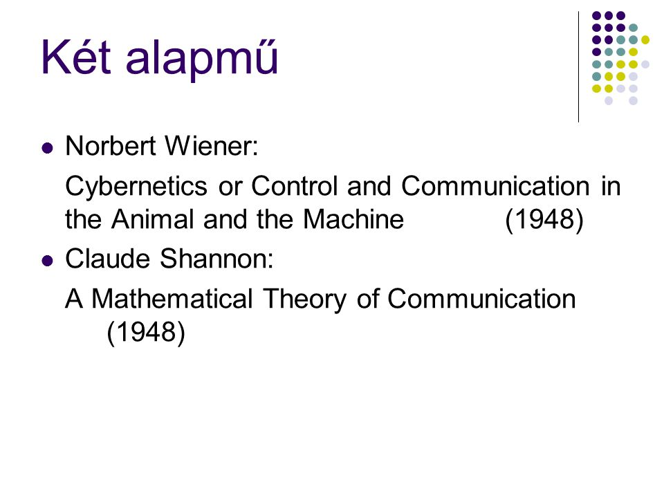 Két alapmű Norbert Wiener: