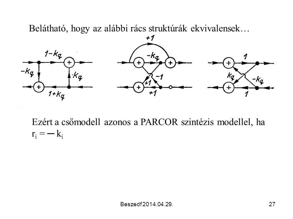 Belátható, hogy az alábbi rács struktúrák ekvivalensek…