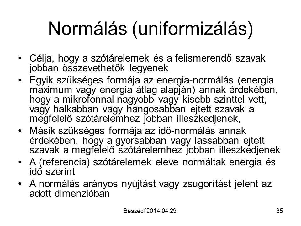 Normálás (uniformizálás)