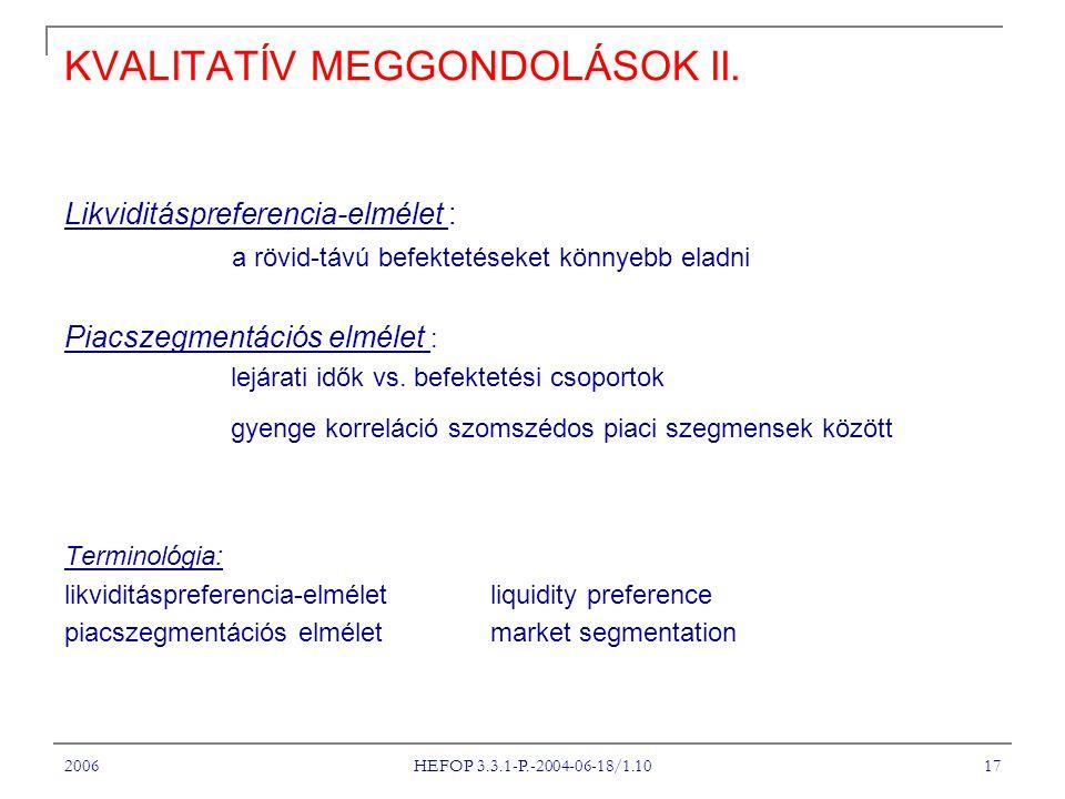 KVALITATÍV MEGGONDOLÁSOK II.