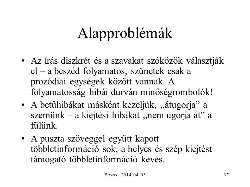Alapproblémák