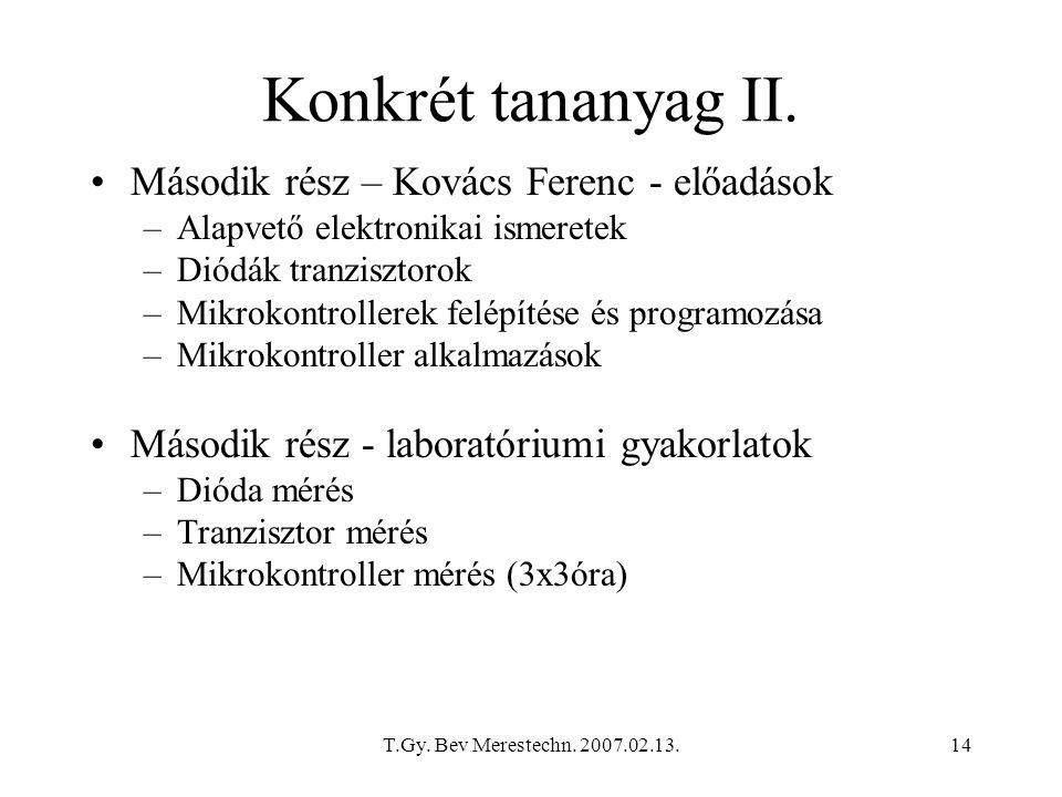 Konkrét tananyag II. Második rész – Kovács Ferenc - előadások