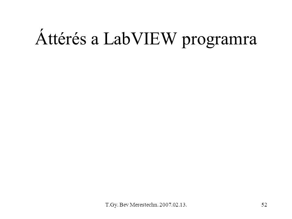 Áttérés a LabVIEW programra