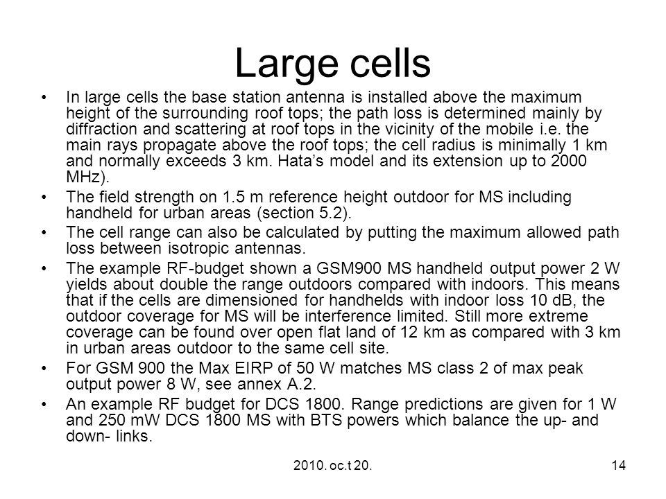 Large cells