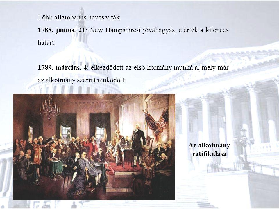 Az alkotmány ratifikálása