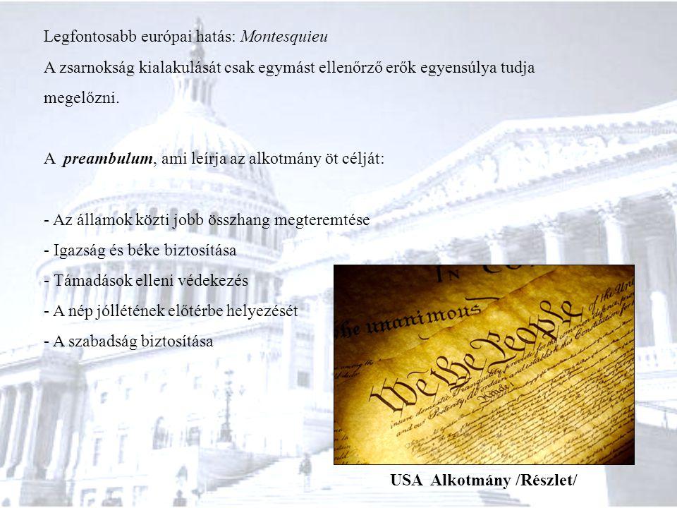 USA Alkotmány /Részlet/