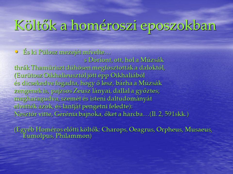 Költők a homéroszi eposzokban