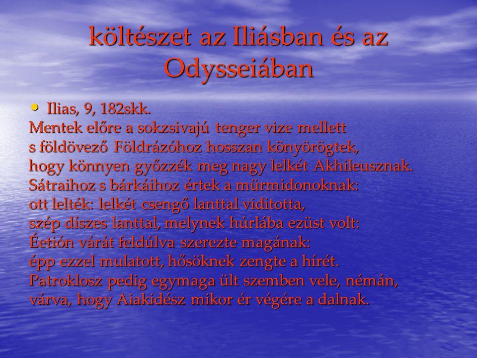 költészet az Iliásban és az Odysseiában