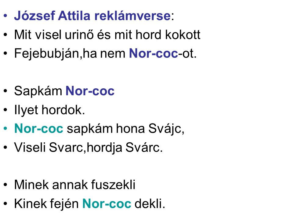 József Attila reklámverse: