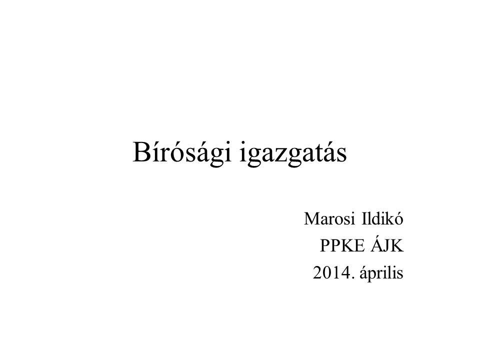 Marosi Ildikó PPKE ÁJK 2014. április
