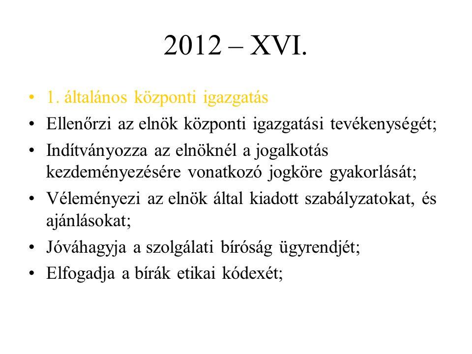 2012 – XVI. 1. általános központi igazgatás