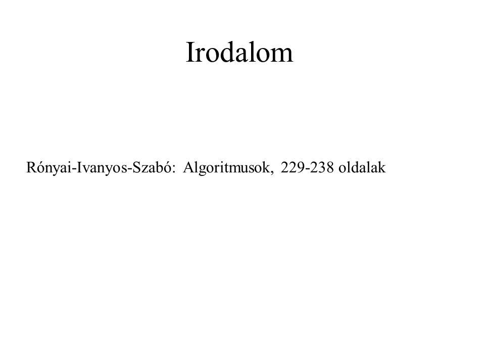 Rónyai-Ivanyos-Szabó: Algoritmusok, 229-238 oldalak