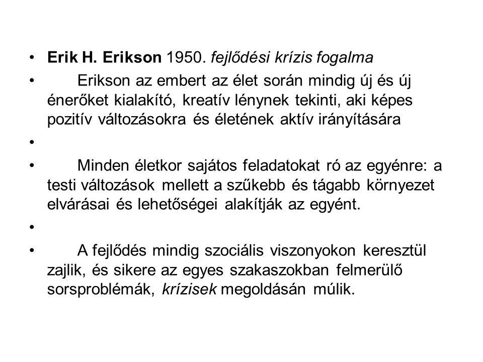 Erik H. Erikson 1950. fejlődési krízis fogalma