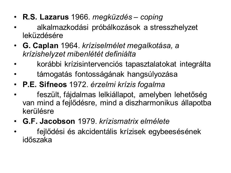 R.S. Lazarus 1966. megküzdés – coping
