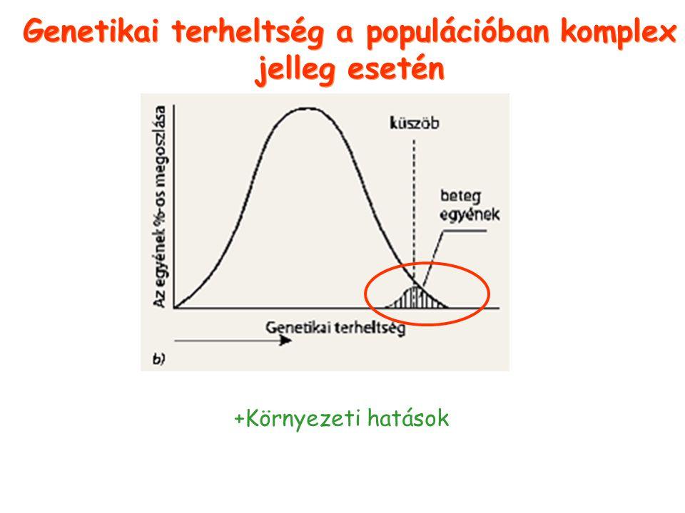 Genetikai terheltség a populációban komplex jelleg esetén