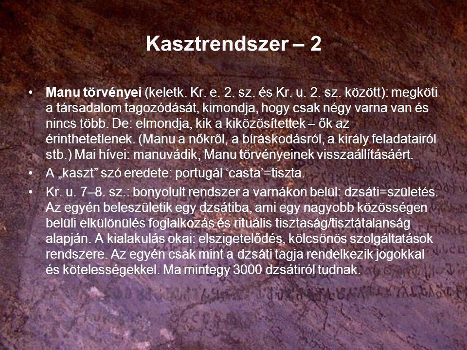 Kasztrendszer – 2