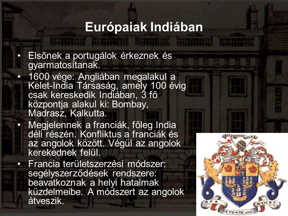 Európaiak Indiában Elsőnek a portugálok érkeznek és gyarmatosítanak.