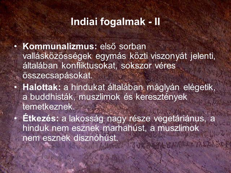 Indiai fogalmak - II