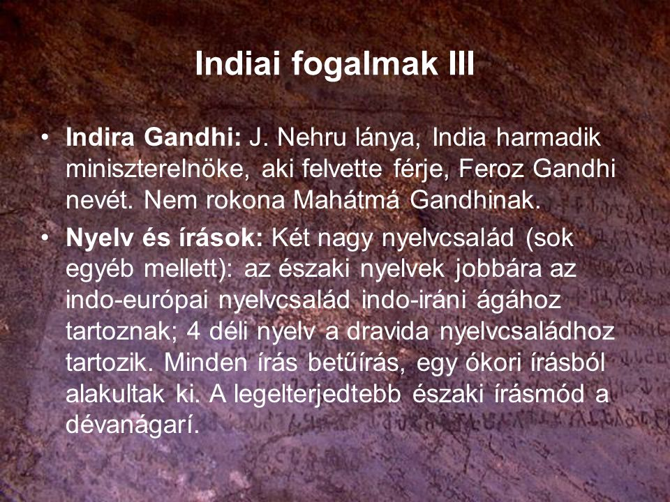 Indiai fogalmak III