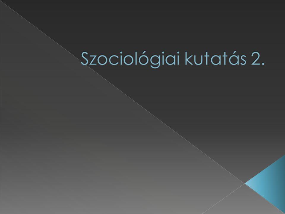 Szociológiai kutatás 2.