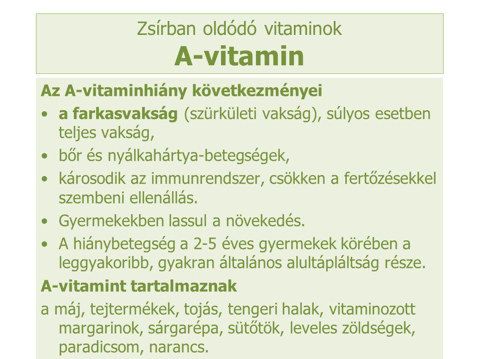 Zsírban oldódó vitaminok A-vitamin