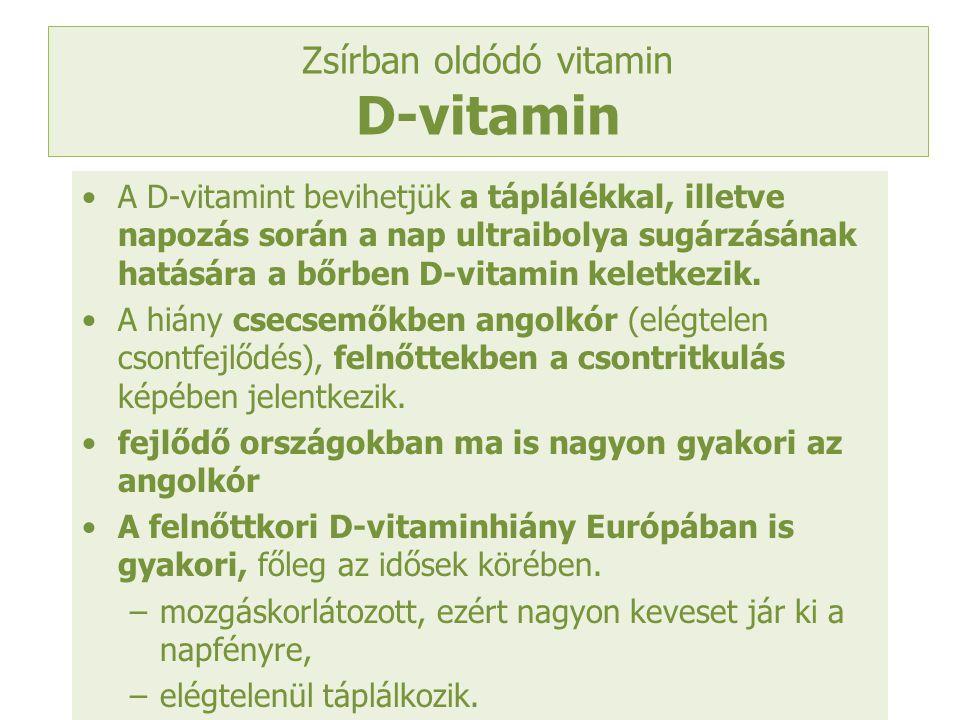 Zsírban oldódó vitamin D-vitamin