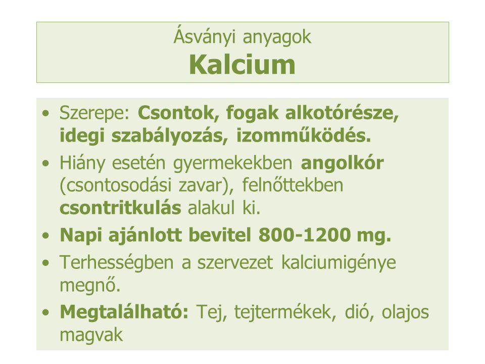 Ásványi anyagok Kalcium