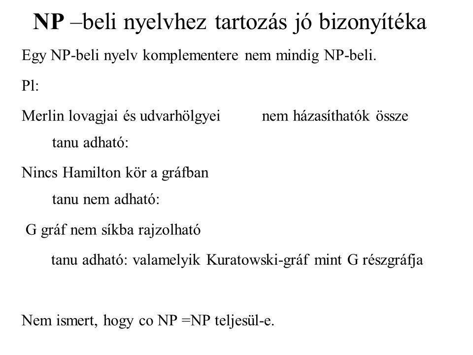 NP –beli nyelvhez tartozás jó bizonyítéka