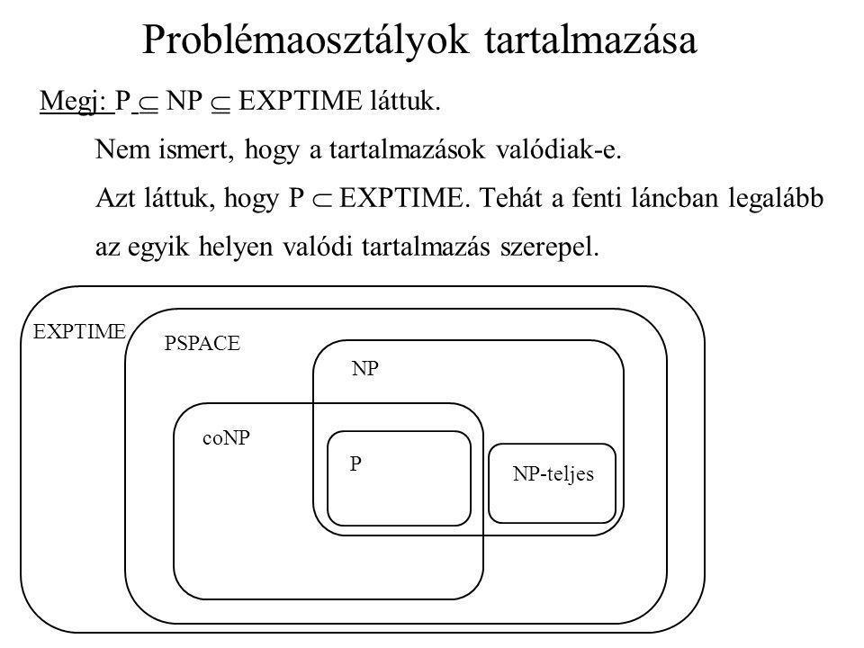 Problémaosztályok tartalmazása