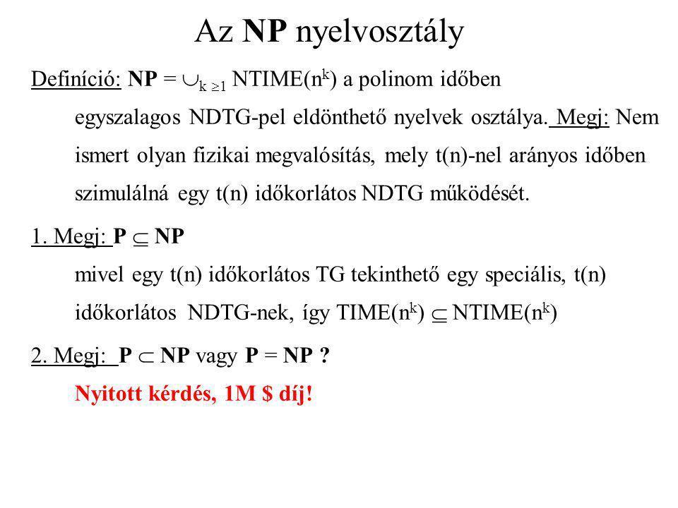 Az NP nyelvosztály