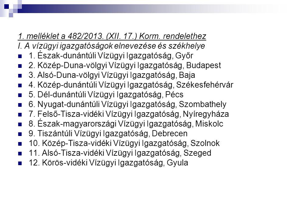 1. melléklet a 482/2013. (XII. 17.) Korm. rendelethez