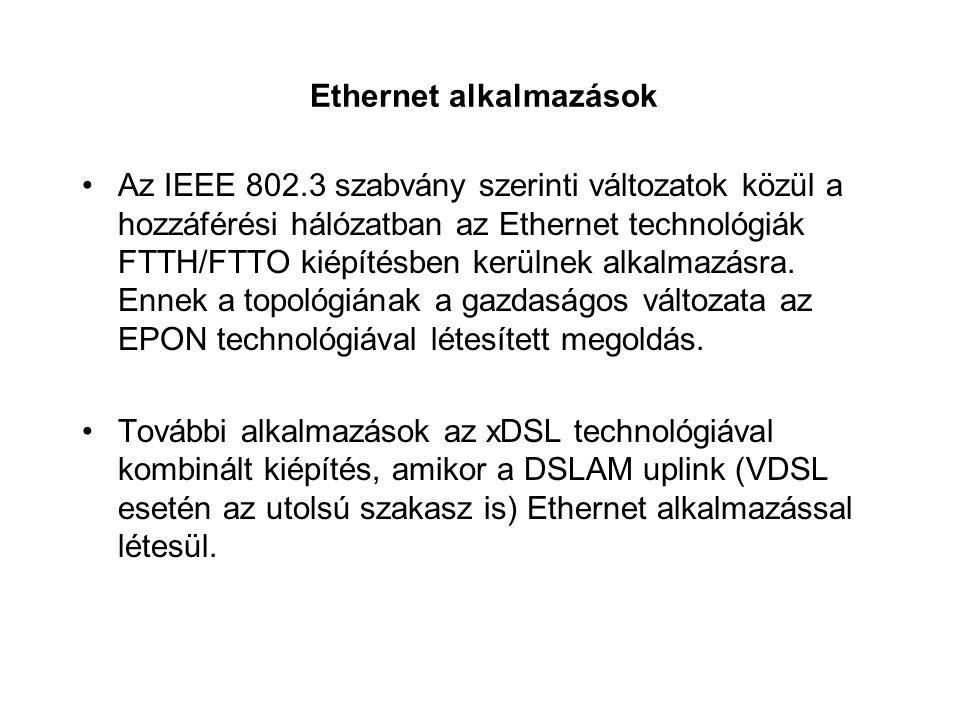 Ethernet alkalmazások