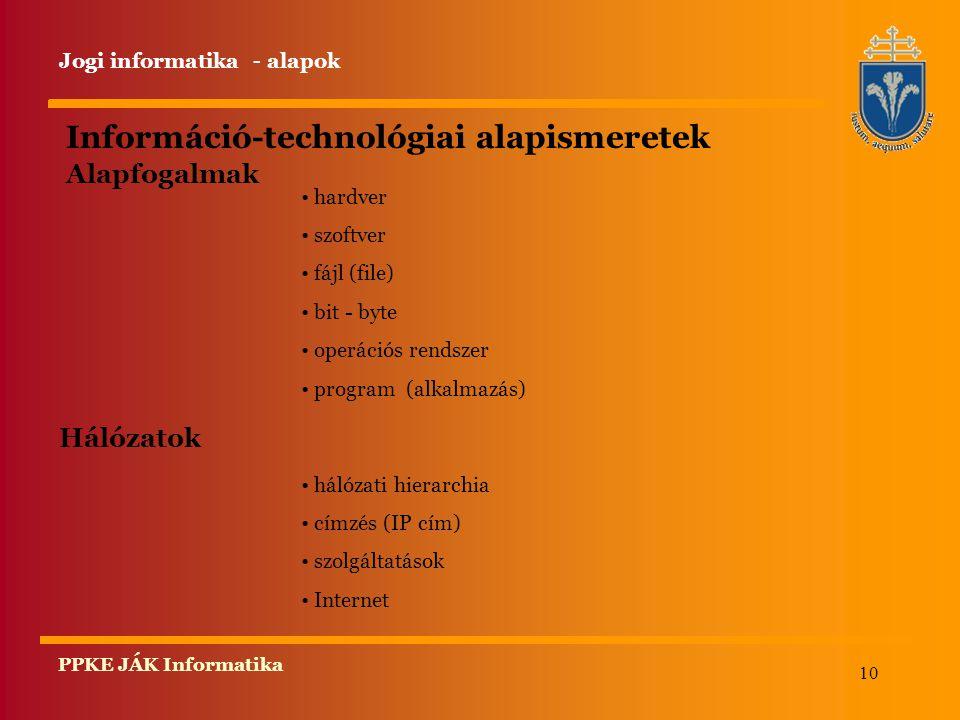 Információ-technológiai alapismeretek