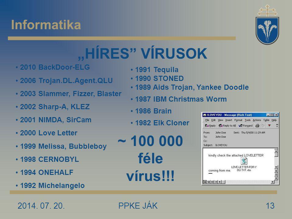 """""""HÍRES VÍRUSOK ~ 100 000 féle vírus!!!"""