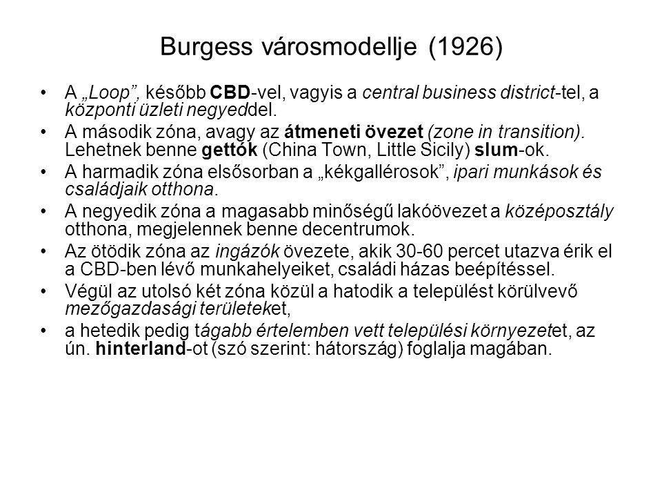 Burgess városmodellje (1926)