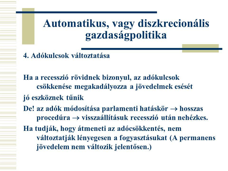Automatikus, vagy diszkrecionális gazdaságpolitika