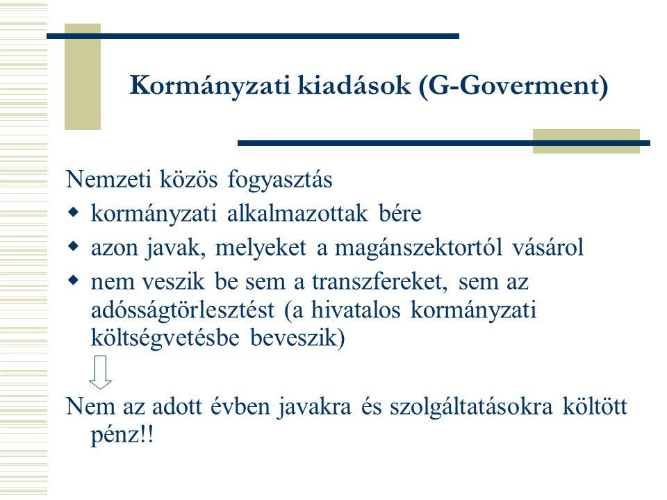 Kormányzati kiadások (G-Goverment)