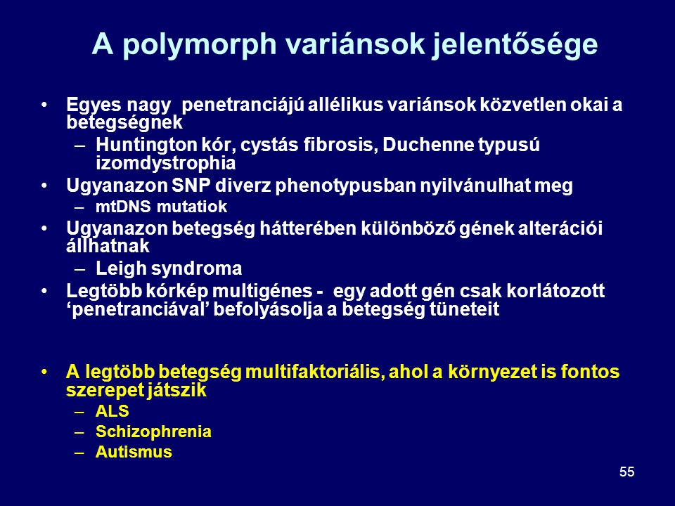 A polymorph variánsok jelentősége